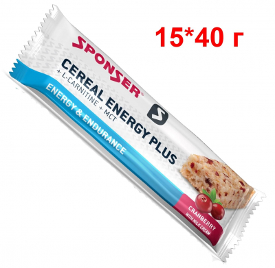 SPONSER CEREAL ENERGY PLUS (15*40 г)